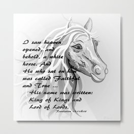 White Horse of a King Metal Print