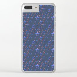 Blue star. Clear iPhone Case