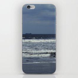 Blue sea, blue sky iPhone Skin
