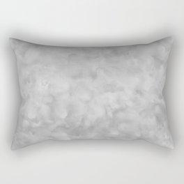 Soft Gray Clouds Texture Rectangular Pillow