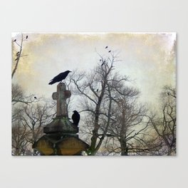A Gathring Of Crows Canvas Print