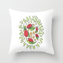 """""""Lady Buggers"""" Throw Pillow"""