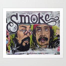 cheech and chong Art Print