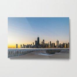 Chicago Skyline - Frozen in Time Metal Print