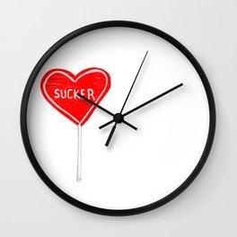 Sucker sucker Wall Clock