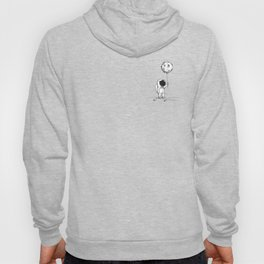 Astronaut kid holding the moon as a balloon with cosmos galaxy sky stars dreamy space picture Hoody