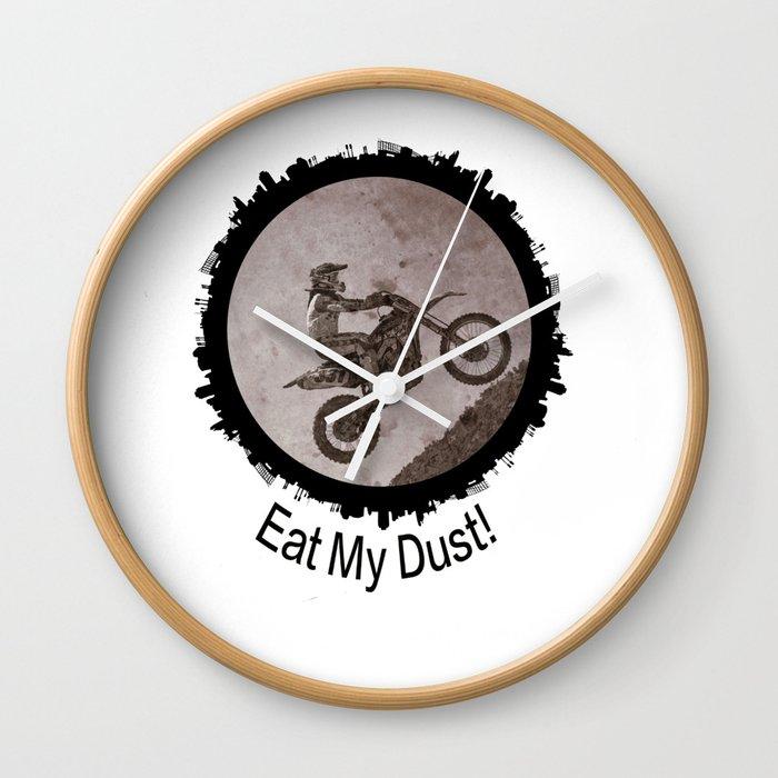 Eat My Dust Wall Clock