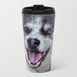 Beautiful husky Metal Travel Mug