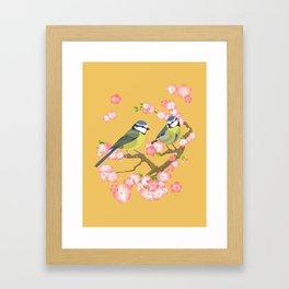 Spring Blossoms (gold) Framed Art Print