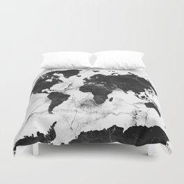 world map marble 3 Duvet Cover