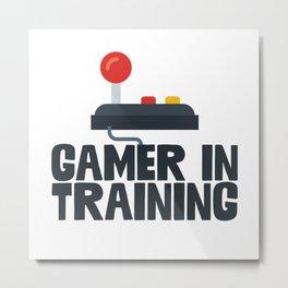 Gamer In Training Metal Print