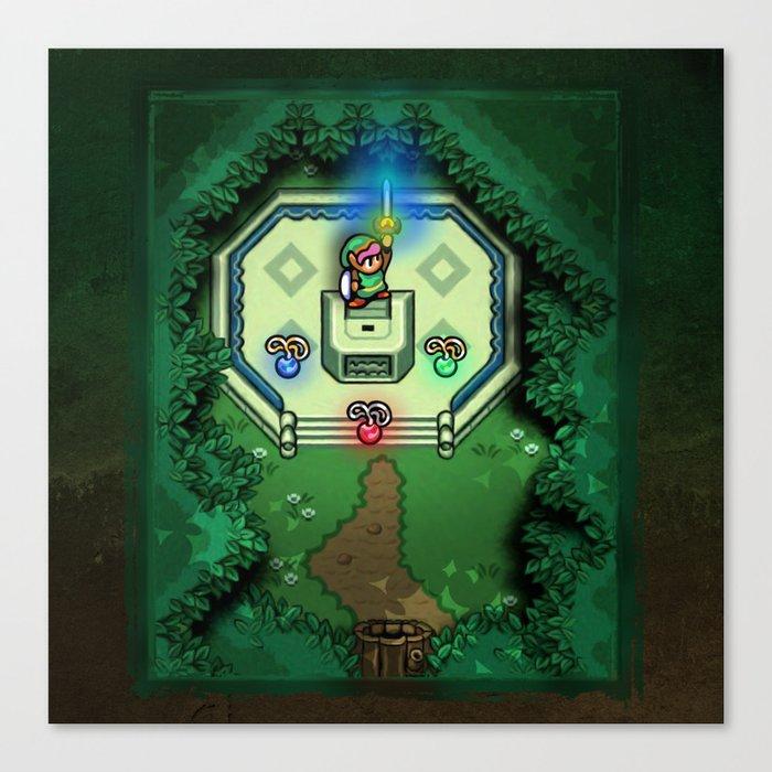 Zelda Link to the Past Master Sword Canvas Print