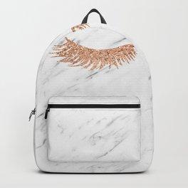 Rose gold marble lash envy Backpack