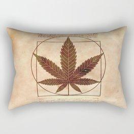 vitruvian marijuana Rectangular Pillow
