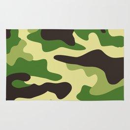 Khaki camouflage pattern Rug