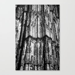 Cologne Cathedral (Kölner Dom), Germany - Black & White Canvas Print
