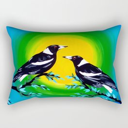 Sun and Birds Rectangular Pillow