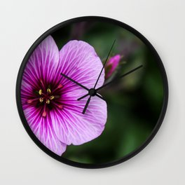 Purple Veins Wall Clock