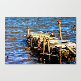 Fisherman's Dock: Dennery Village, Saint. Lucia Canvas Print