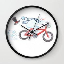 Walden's Red Bike Wall Clock