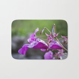 Indian Balsam Bokeh on the banks of the River Tay in Scotland Bath Mat