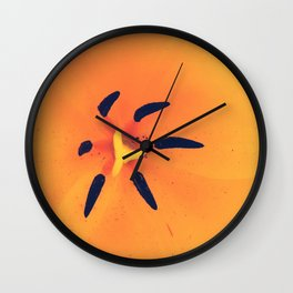 Yellow Tulip Wall Clock
