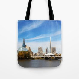 Downtown Winnipeg 2 Picture Panorama Tote Bag