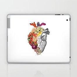 Flower Heart Spring White Laptop & iPad Skin