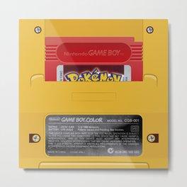Nintendo Game Boy Color Yellow (Pokémon Red) Metal Print
