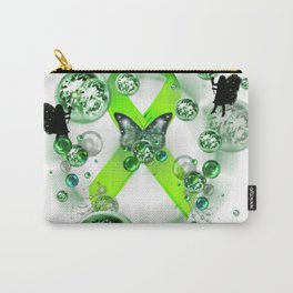 Green Ribbon - Mental Illness Awareness Carry-All Pouch