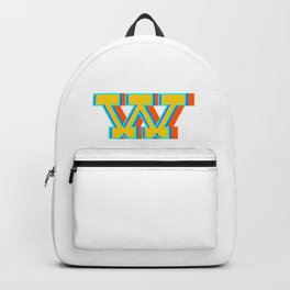 Letter W Backpack
