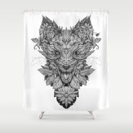 Floreal fox Shower Curtain
