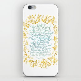 Take Delight in the Lord- Psalm 37:4-6 iPhone Skin