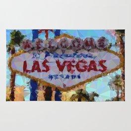 Geometric Las Vegas Sign Rug
