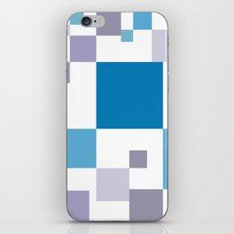 Square colorful tech background #society6 #decor #buyart #artprint iPhone Skin