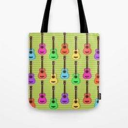 Fun colorful Ukuele Pattern Tote Bag