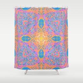 Boho Glow Mandala Cross Shower Curtain