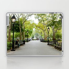 Morning Stroll in the Village Laptop & iPad Skin