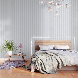Coconut White heavenly - solid color - white vertical lines pattern Wallpaper