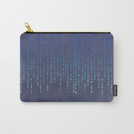 Dark Glamour blue faux glitter rhinestones Carry-All Pouch