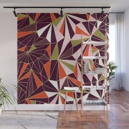 New Art Deco Geometric Pattern - Burgundi and Pink #deco #buyart Wall Mural