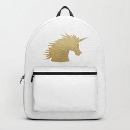 Gold Glitter Unicorn Backpack