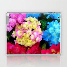 Red Blue Rose Flower Blossoms Hydrangeas Laptop & iPad Skin
