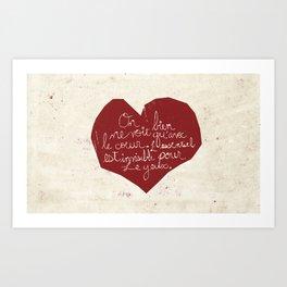 Le Cœur Art Print