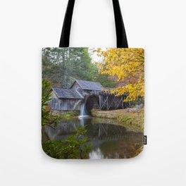 Rustic Mill in Autumn Tote Bag