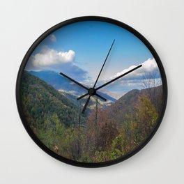Blue Ridge Peaks Wall Clock