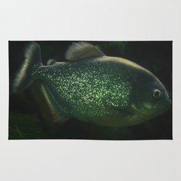 Golden dust fish Rug