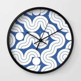 CONECTED #5 BLUE Wall Clock