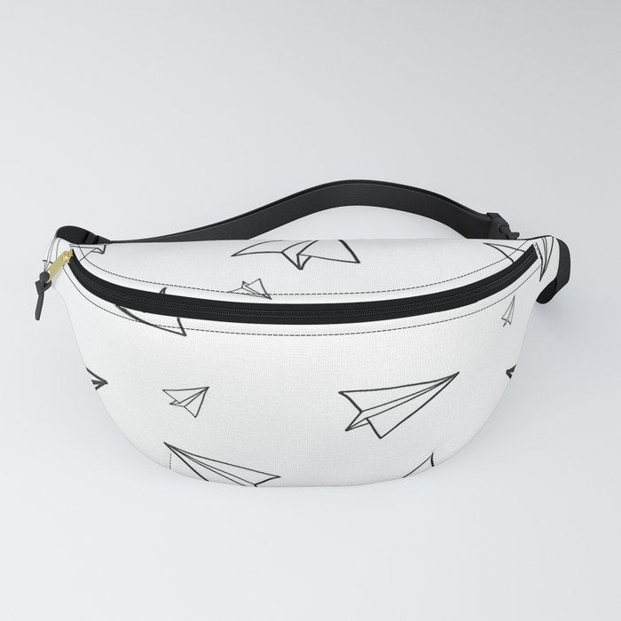 Paper Airplane Pattern | Line Drawing Fanny Pack