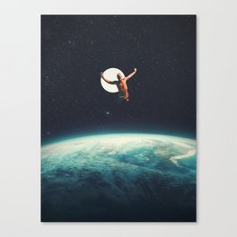 Returning to Earth with a will to Change Canvas Print